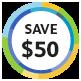 Save $50!