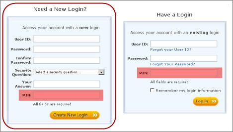 Your Account: Login help