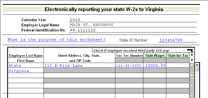Illinois, Virginia, and Wisconsin: e-filing state W-2s