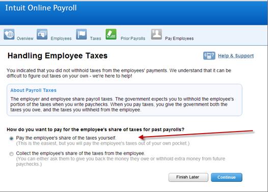 Enter Gross Up Prior Payrolls