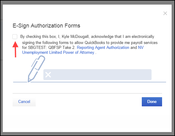 Use E Signature To Sign Authorization Forms For Quickbooks