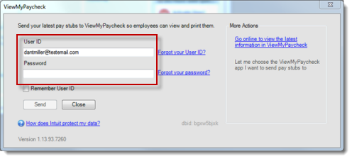 Your administrator user id and password to sign in to viewmypaycheck