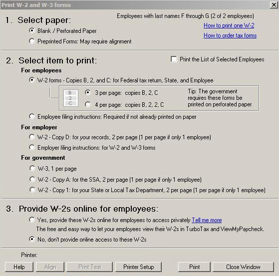 Send Employees' W-2 Information To Intuit's Turbo Tax