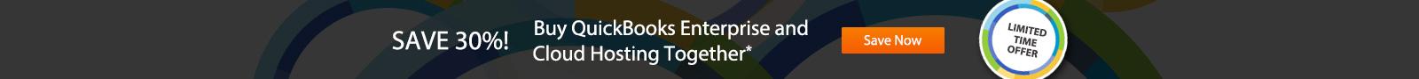 Save 30%! Buy QuickBooks Enterprise and Cloud Hosting together