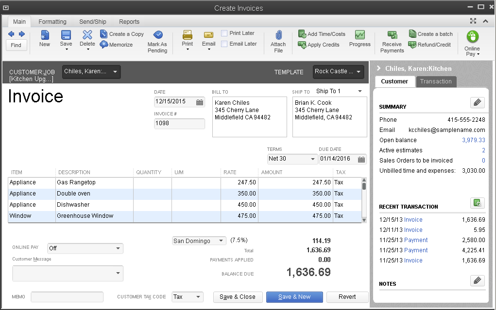 Quickbooks Desktop Enterprise Inventory Features