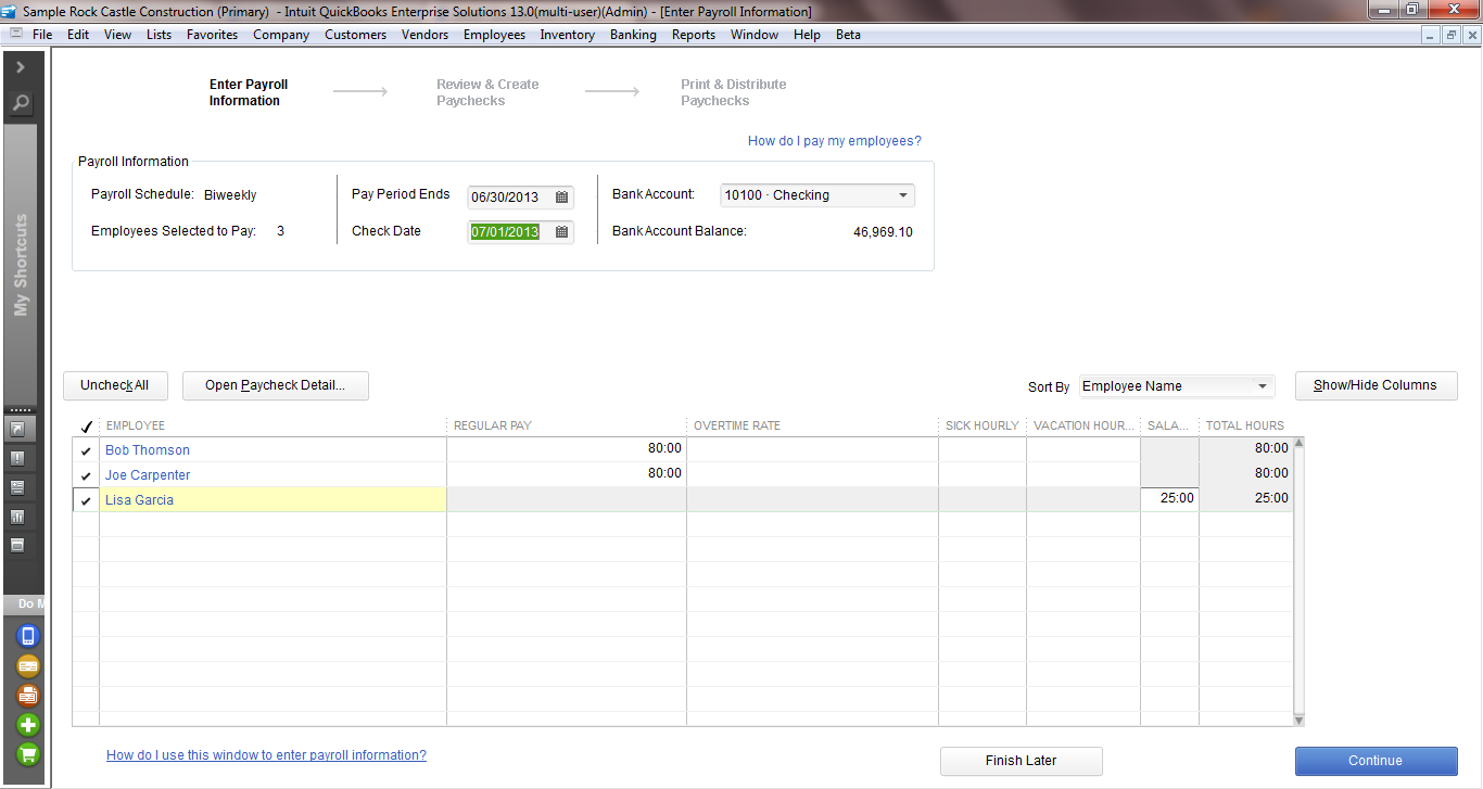 QuickBooks Enterprise Payroll & Employees - Intuit QuickBooks ...